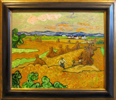 Mrugalla, Edgar / Vincent van Gogh - Die Heuhaufen (The Haystacks.).