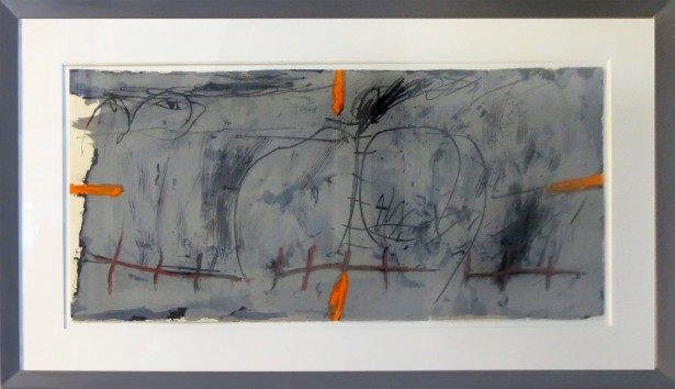Tapies, Antoni - orange et gris.