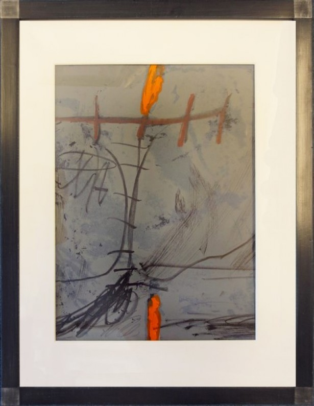 Tapies, Antoni - abstrakt blau/orange